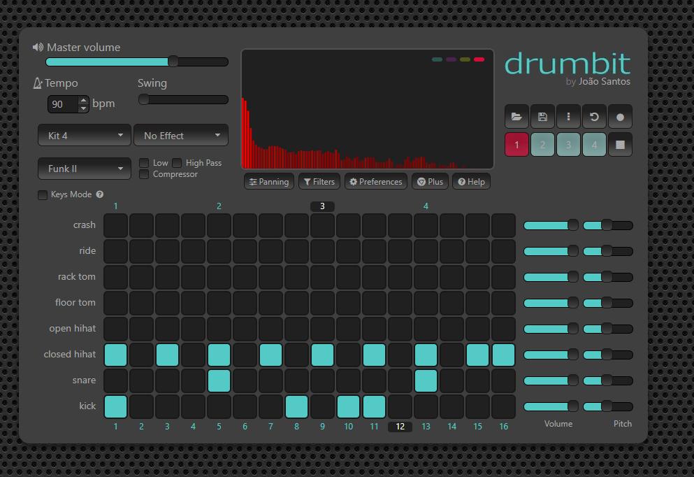 online drum kit drumbit