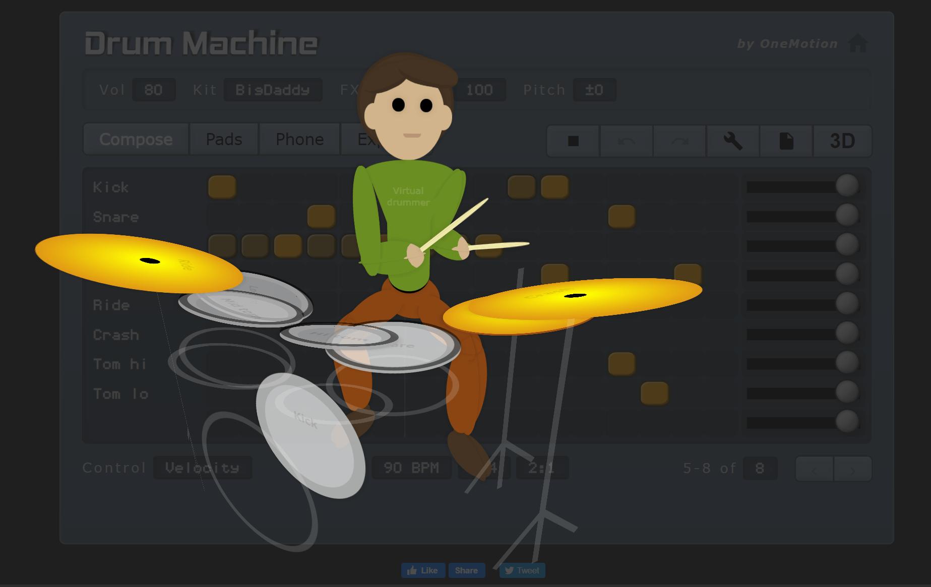online drum kit onemotion