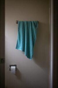 Green Towel for Bass Drum Muffling