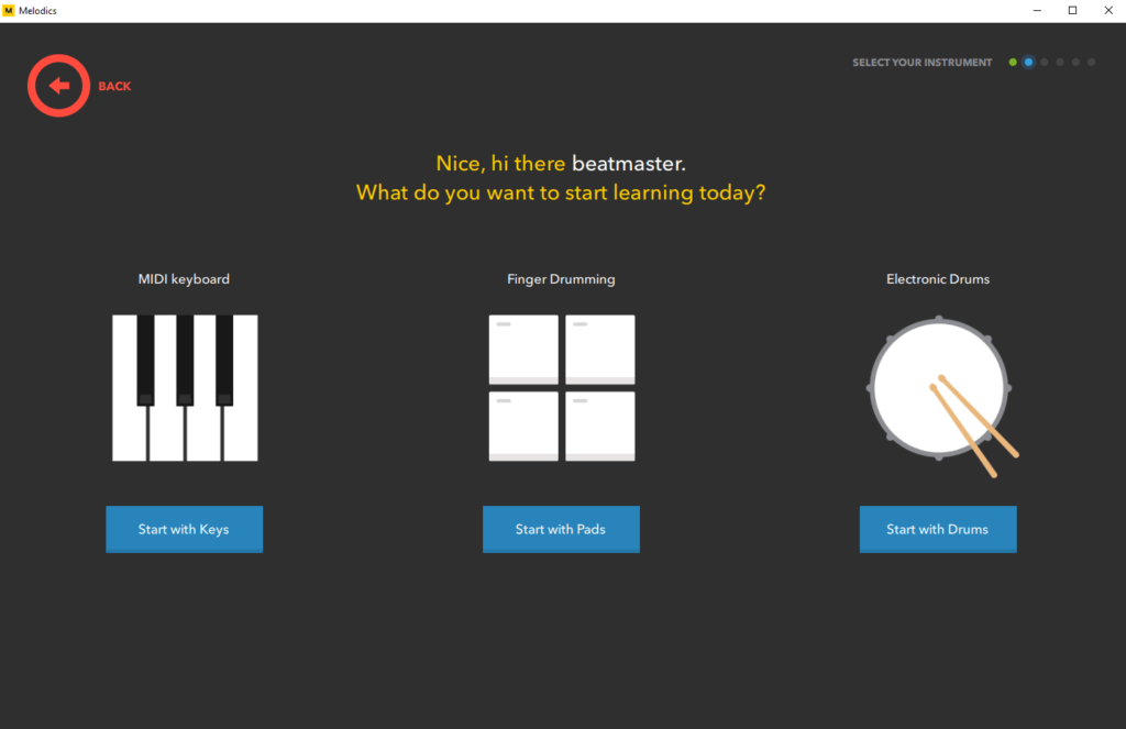 Melodics Review - Instrument Selection
